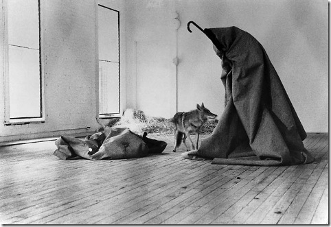 Joseph-Beuys_i-like-america-and-america-like-me_1974