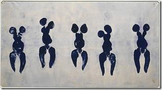 yves klein_anthropométries de l'époque bleue_1960