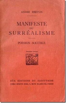 couverture manifeste surrealisme 1924 A.Breton
