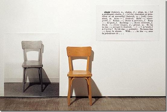 Une et trois chaises Joseph Kosuth 1963
