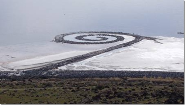 Spiral Jetty de Robert Smithson