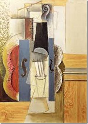 Pablo Picasso Violon accroché au mur