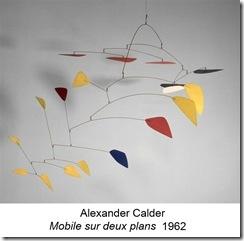 Calder mobile sur 2 plans