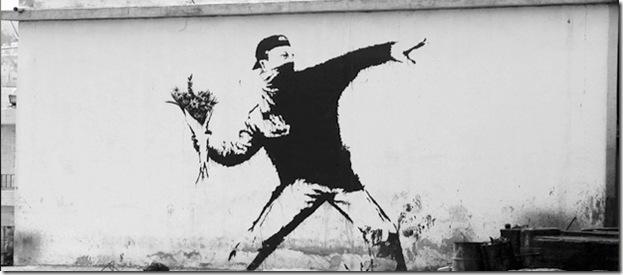 banksy le manifestant