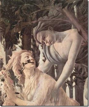 Sandro Botticelli, détail de la naissance du printemps
