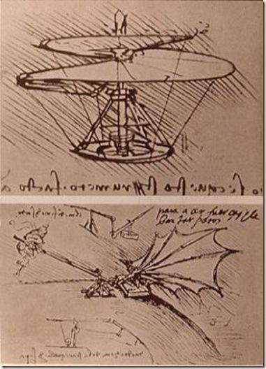 Léonard de Vinci gyroplane