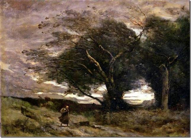 Jean-Baptiste Camille Corot –Le Coup De Vent, 1866