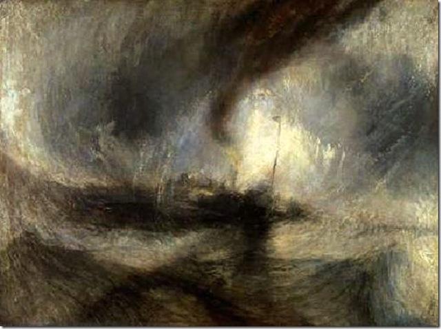 William Turner Tempête en mer