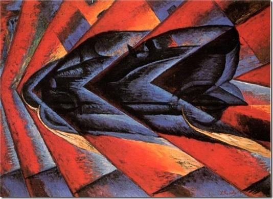 Luigi Russolo Dynamisme d'une automobile. 1913