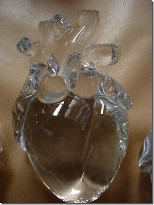 François Ribes, Cœur en verre soufflé