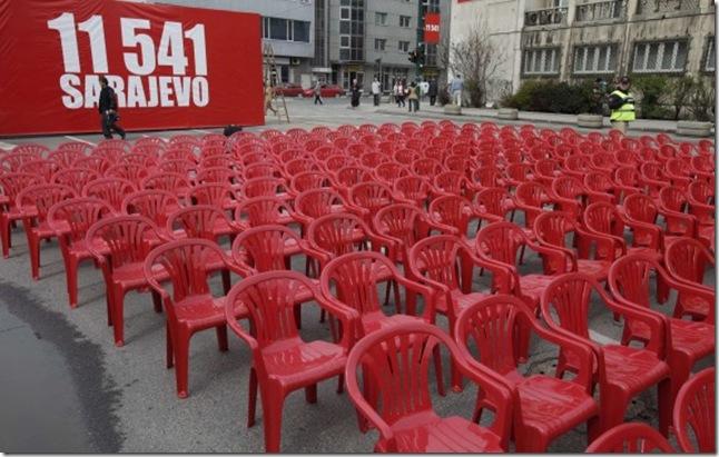 Sarajevo anniversaire des 20 ans de la guerre