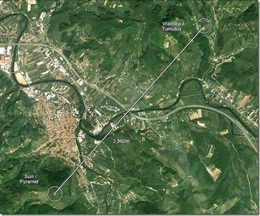 Localisation tumulus de Vratnica