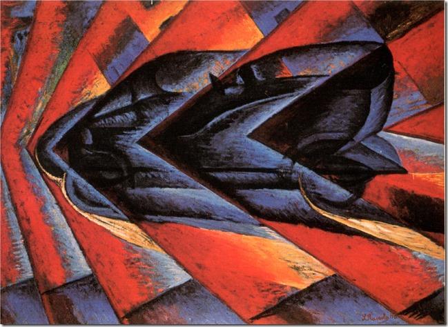 Luigi Russolo-Dynamisme_automobile 1913