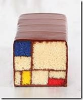 Gâteau Mondrian au Blue Bottle Café