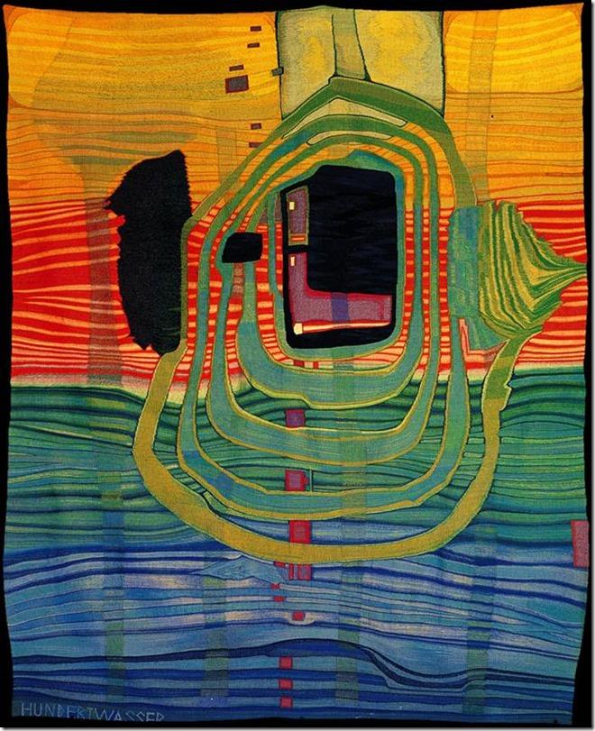 Hundertwasser, Aurore tapisserie
