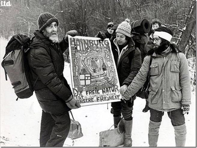Hundertwasser la lutte à Hainburg