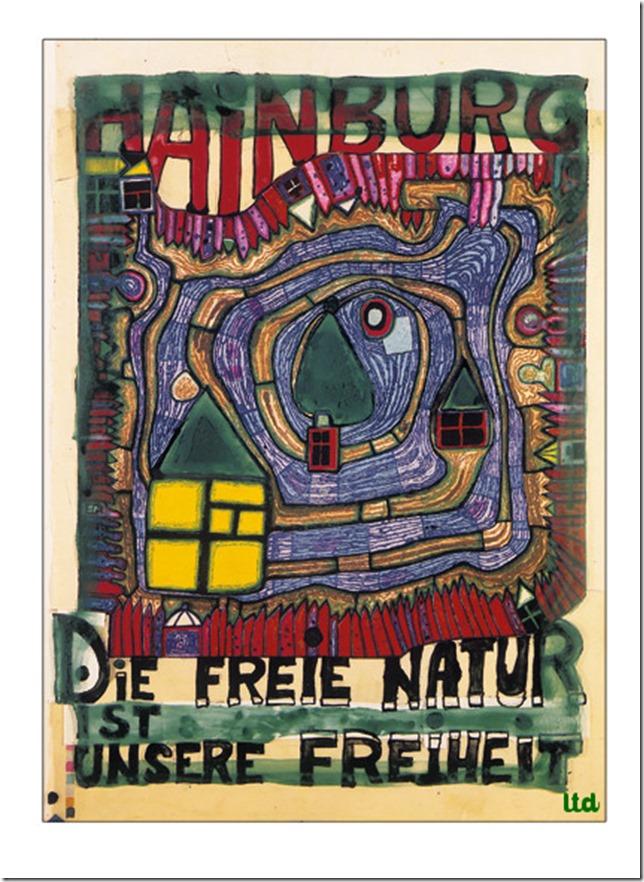Hundertwasser la nature libre est notre liberté