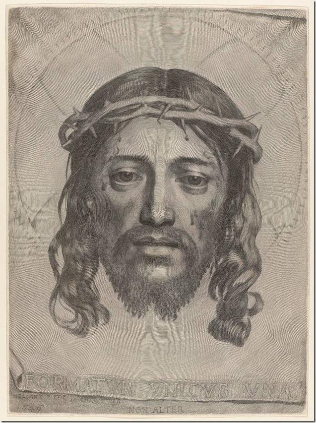 Portrait du Christ, gravure de Claude Mellan