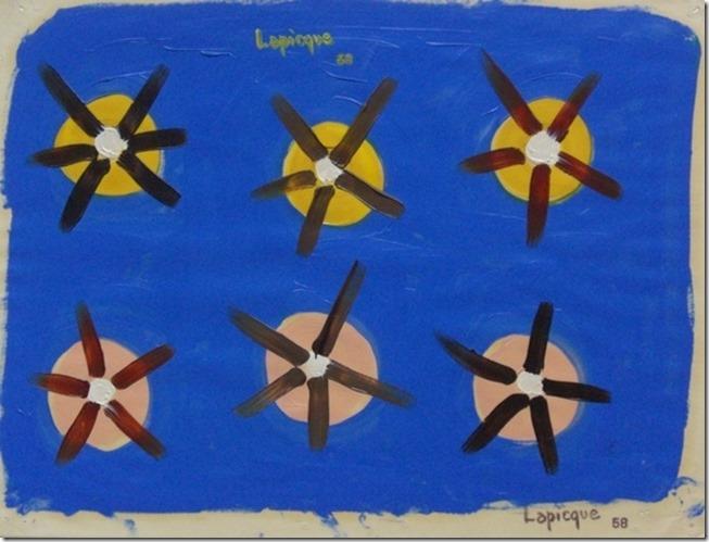 Charles LAPICQUE,Les feux de position, 1958