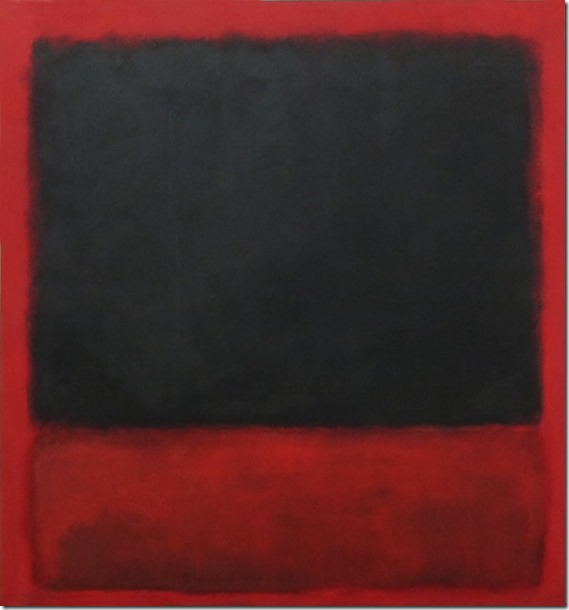 Mark Rothko. Untitled (Black, red over black and red), 1964