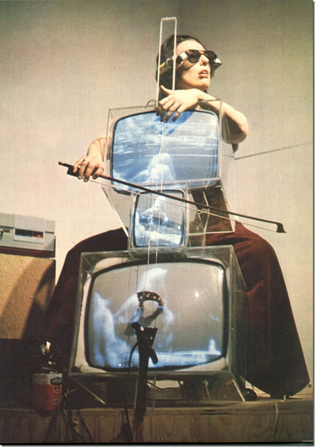 Nam June Paik, TV Cello-1971- with Charlotte Moorman