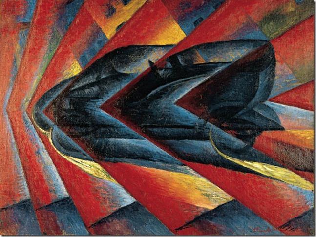Russolo_Luigi Russolo – Dynamisme d'une automobile, 1912-13