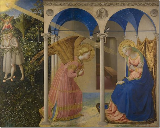 Fra Angelico, L'Annonciation du couvent San Domenico de Fiesole