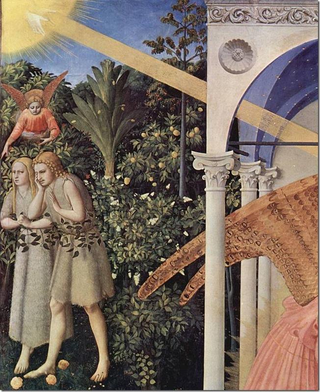 Détail, Fra Angelico, L'Annonciation