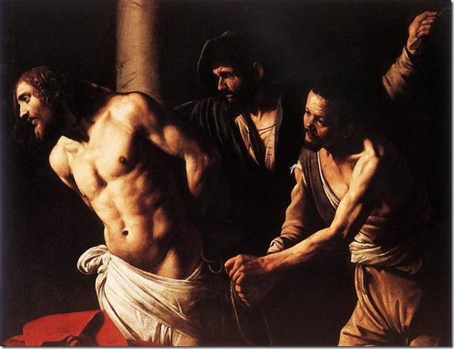 Le Caravage, la flagellation du christ-1607