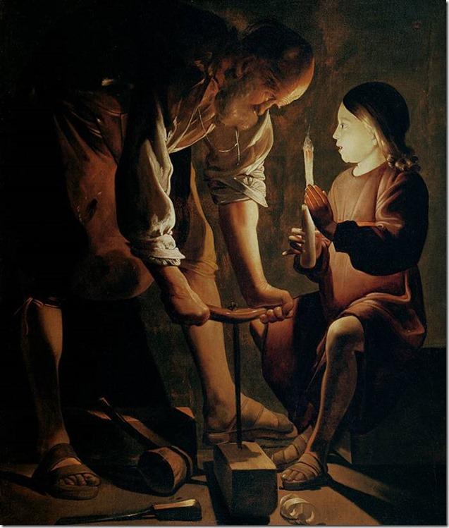 Georges de La Tour, Saint Joseph charpentier, 1643