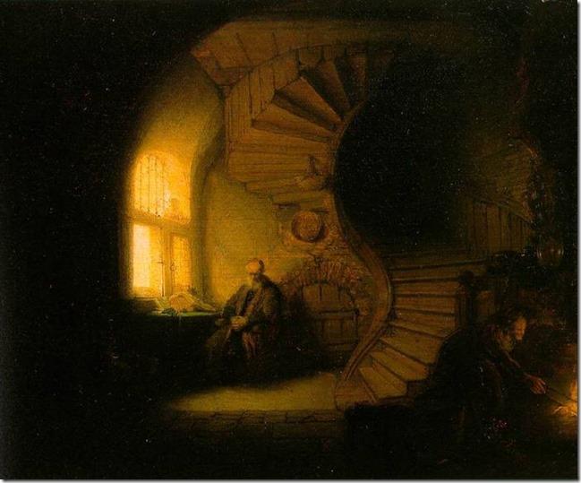 Rembrandt, Le philosophe en méditation