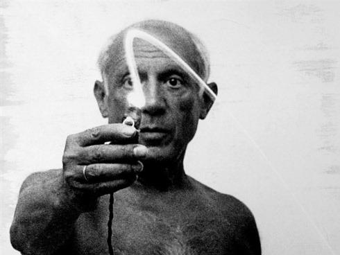 Picasso photographié par Gjon Mili, 1949