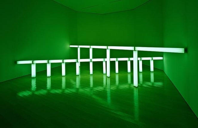 Dan Flavin, Greens crossing greens