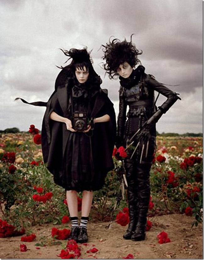 Tim Burton for Harper's Bazaar ~ October 2009 (j) photographed by Tim Walker