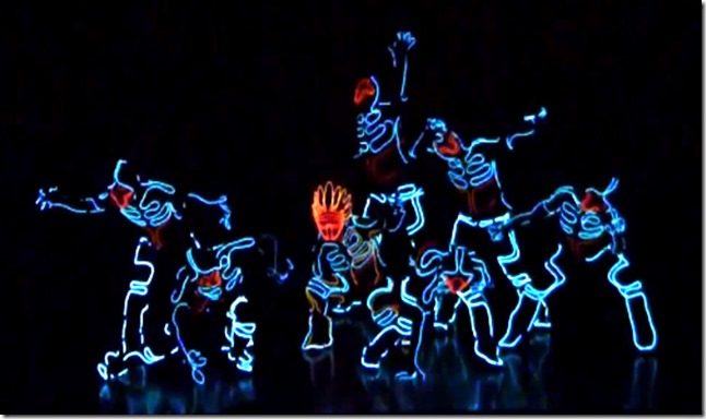 wrecking crew orchestra tron lightsuit dance