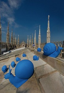 Regeneration (Snails Installation) - Milan - Cracking Art Group