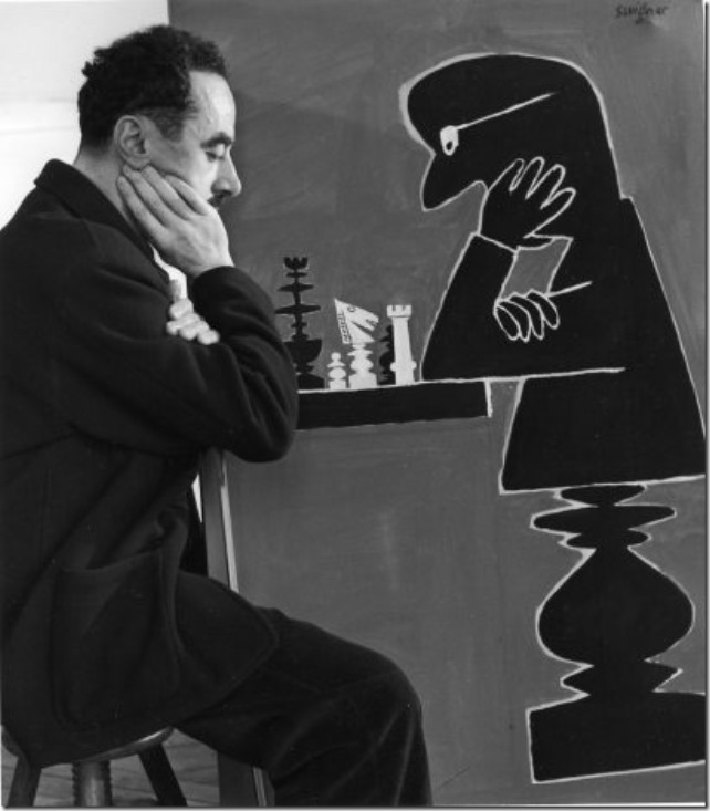 Savignac aux échecs - 1950 © Robert Doisneau