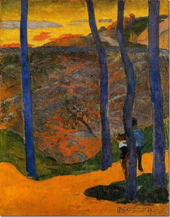 Arbres bleus - Paul Gauguin 1888