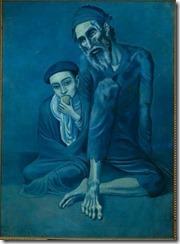 Picasso - Vieux Juif avec un garçon - Jeune homme