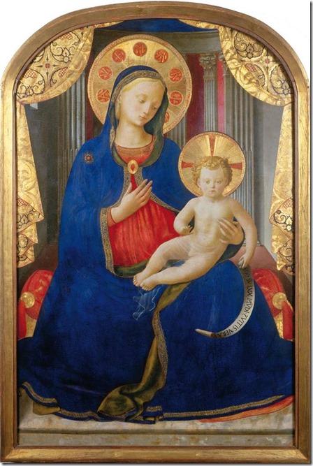 Vierge à l'Enfant, Fra Angelico vers 1450