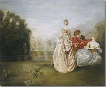 Watteau Les deux Cousines, vers 1716