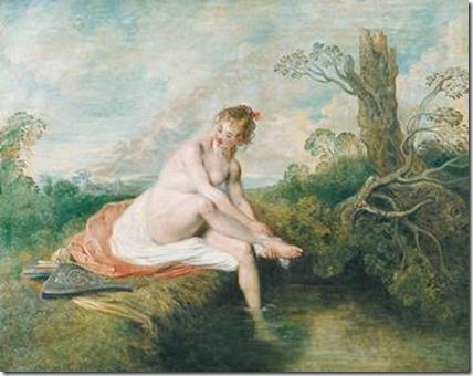 Watteau, Le Bain de Diane, 1712-1717