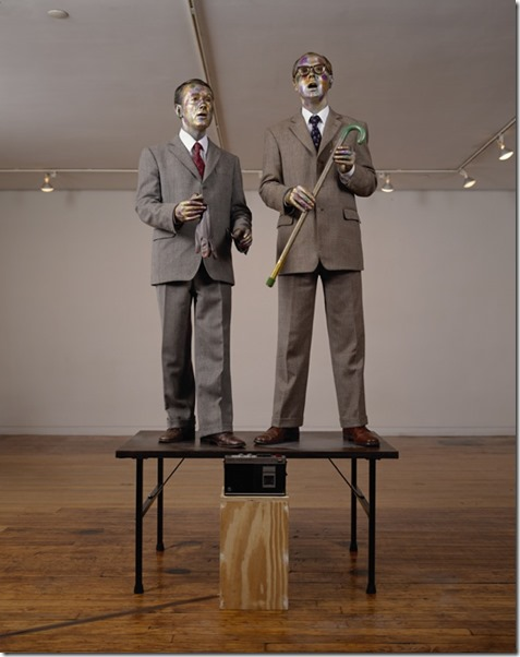 Gilbert et George, singing sculpture